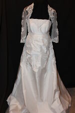 NWT Maternity Taffeta/lace bridal gown, Bust: 37-39 Long bridal gown/lace bolero