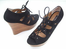TONY BIANCO FINLAY BLACK CHICAGO LADIES DRESS HIGH WEDGES SHOES SIZE 10 NEW