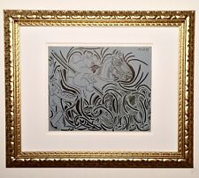 PABLO PICASSO 1962 BACCHANALS LINOCUT FRAMED; ON SALE Limited Edition.