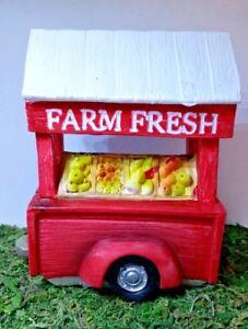 Miniature Dollhouse Fairy Garden Farm Fresh Produce Stand Vegetables