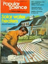 1976 Popular Science Magazine: Solar Water Heaters/Aluminum Wiring