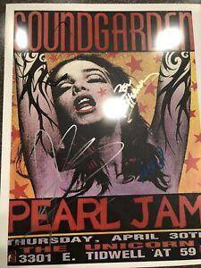 Sound Garden 11x14 Poster Originally Signed Cornell Cameron Shepherd Thayil