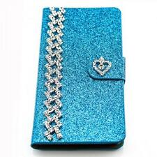 Book Style Glitter Phone Case Pouch Case Flip Cover Protective Case Strass m231