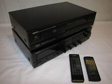 DENON DRA-345R Receiver Verstärker m Radio u DCD-590 CD-Player 2x Fernbedienung