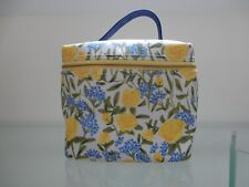 NEW - ANTHROPOLOGIE / JACKIE DIEDAM YELLOW ROSES FLORAL COTTON LUNCHBOX - BNWT
