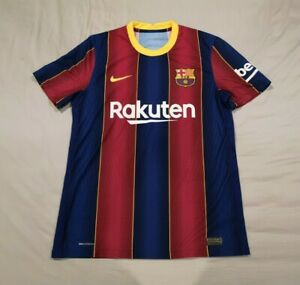 Barcelona 2020-21 Home Player Issue Shirt M