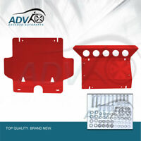 Front Red Sump Guard Bash Plate for Toyota Hilux 2005-2015 Underbody Protection