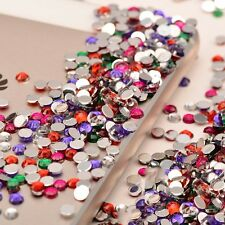 Wholesale 2000pcs DIY Decoration 3D Acrylic Nail Art Tips Gems Rhinestone