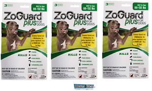 ZoGuard Plus Promika 89-132 Lb Kills Fleas and Ticks For Dogs 9 Month Supply