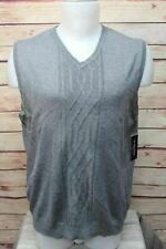 Attention Mens Pullover Sweater Vest Size XL Gray V Neck New