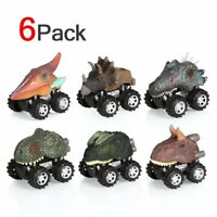 6pcs Animals Dinosaur Cars Pull Back Car Kids Fun Toys Boys Mini Gifts Xmas