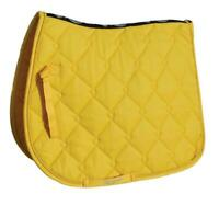 Rhinegold Elite Diamond Quilted Saddle Pad in Yellow