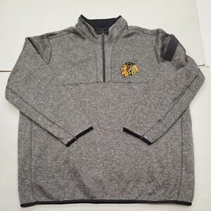 NWOT Chicago Blackhawks NHL Antigua Gray 1/4 Zip Sweatshirt 3XL New Without Tag