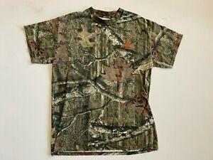 Mossy Oak Shirt Men's Medium Camouflage Short Sleeve Hunting