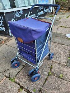 Genuine Sholley Trolley Mobility Aid Shopping Blue