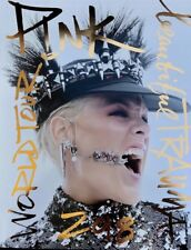 P!NK OFFICIAL BEAUTIFUL TRAUMA WORLD TOUR 2018 BOOK PROGRAM w/ Poster PINK Rare
