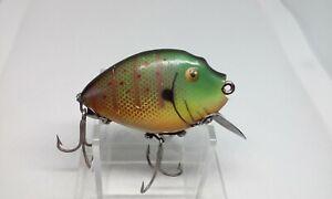 VINTAGE Heddon PUNKINSEED 9630 Sunfish Gold eyes Perch Crankbait Fishing Lure