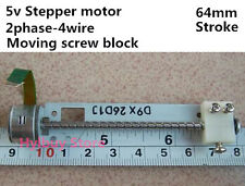 64mm stroke linear screw slider Moving block Stepper Motor DC 5v 2-phase 4-wire
