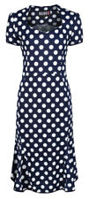 Ro Rox Polka Dot Vintage Rockabilly 1950s Work Party Smart Casual Trumpet Dress