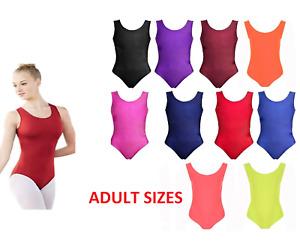 Ladies Nylon Sleeveless Leotard womens Bodysuit Shiny nylon stretch - Dance