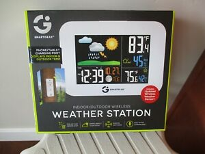 BNIB Smart Gear Indoor/Outdoor Wireless Weather Station, STG-5939-KB