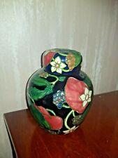 Country Craft tubelined lidded ginger jar. 16cm