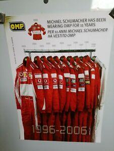 OMP Michael Schumacher 1996-2006 Race Suit Original  Poster
