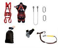 Profi SET Baumpflege Fallschutz Sicherheitsgurt 1,5m Seil + Werkzeughalter