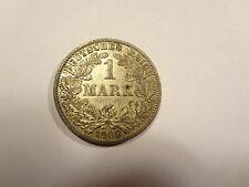 Reichsmark, 1 Mark, Reichsmünze, 1908 Buchstabe A, silber,  unbehandelt, top (1)