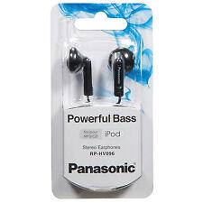 BRAND NEW Panasonic RP-HV096-K Stereo Earbuds Powerful Bass MP3 Music