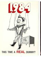 1984 Anti Ronald Reagan Oversize Marionnette Postcard Set