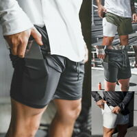 Men's Gym Fitness Bodybuilding Jogging Sport Shorts Casual Pants With Pockets