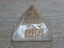 cristalloterapia MINI PIRAMIDE QUARZO IALINO REIKI A++ piramidoterapia minerale