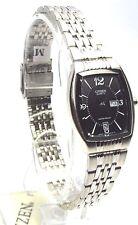 New Citizen Lady Silver-tone, Black-dial- Rectangle Dress Watch