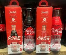 Coca-Cola Greece ATHENS Cultural Heritage pair of bottles + boxes. Full/Perfect!