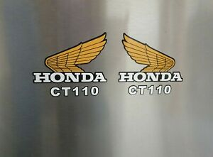 HONDA wings logo pair of sticker decals fuel tank - QUALITY,  UV rated
