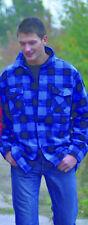 Kanadisches Holzfäller Hemd Größe M Karohemd Blau - Schwarz kariert