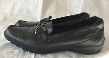 Ecco Shoes Black Leather Loafers Womens - Size 9-9.5 US/ 40 EU
