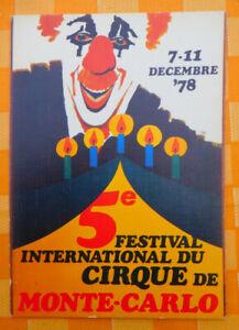 ZIRKUS AK Circus Festival 5e Monte Carlo 1978