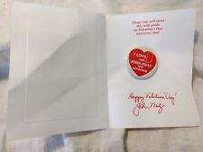I Love John Mutz for Governor Signed Card Election Political Button Pin Back VTG