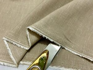 *NEW*Top Quality Beige Linen Flecked Weave Suiting/Crafts/Cushion Fabric