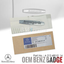 GENUINE OEM MERCEDES BENZ AVANTGARDE CHROME REAR BOOT SIDE EMBLEM BADGE INTERIOR