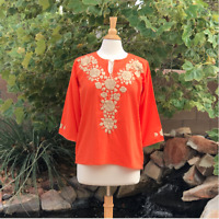 Size M Mexican embroidered blouse Handmade blouse Floral blouse Bohemian style