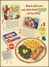 1945 vintage ad, Bird's Eye Frozen Corn, Sponsor the Dinah Shore Show -021112