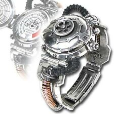 Alchemy Gothic English Pewter EER Steam-Powered Entropy Calibrator Wrist Watch