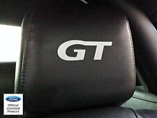 2005-2009 FORD MUSTANG HEADREST GT DECALS - ONLY LEATHER SEATS FORD LICENSED
