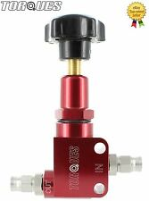 TORQUES AN-3 (-3AN) Aluminium Adjustable Brake Bias Valve with Hose Fittings Red