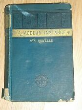 1883 HC A MODERN INSTANCE by W.D. HOWELLS-WAR SERVICE LIBRARY SOLDIERS/SAILORS