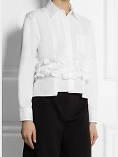 Marni Ruffled White Shirt Size 38