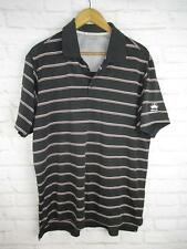 New listing Adidas Men's size Large Black and Red Striped Athletic Golf Polo Budweiser Logo